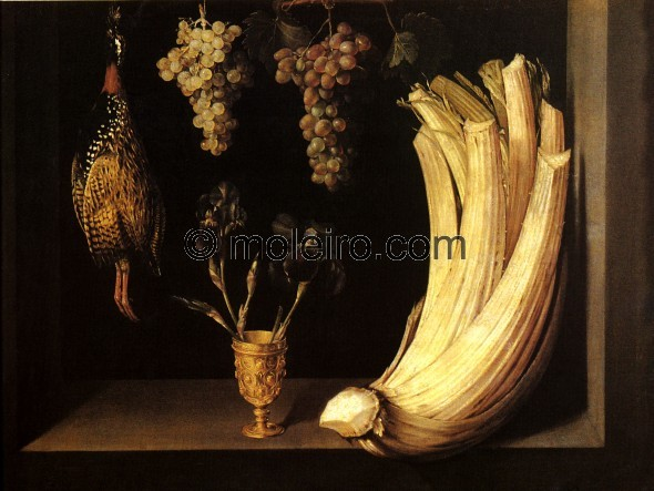 Contemporary of the Clerecía in Salamanca, this still life with thistles is depicted with the virtually clinical realism ...