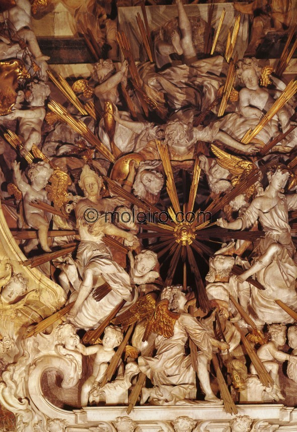 This detail of the \\'trasperencia\\' in Toledo Cathedral with its countless angels is an example of exaggerated Spanish baroque...