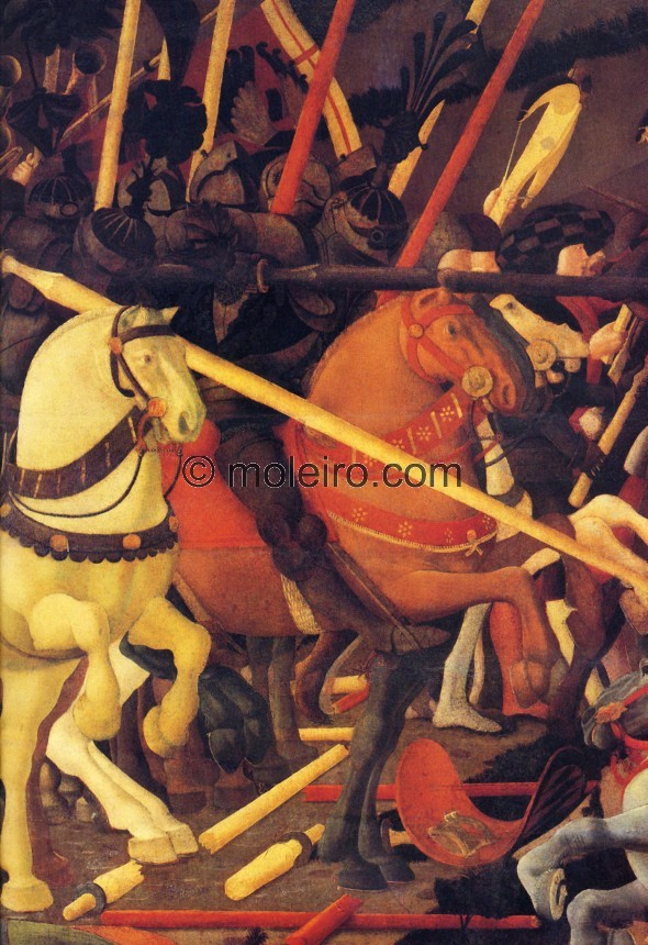 Paolo Uccello, Schlacht von San Romano, Detail, Florenz, Uffizien., El Arte en el Renacimiento