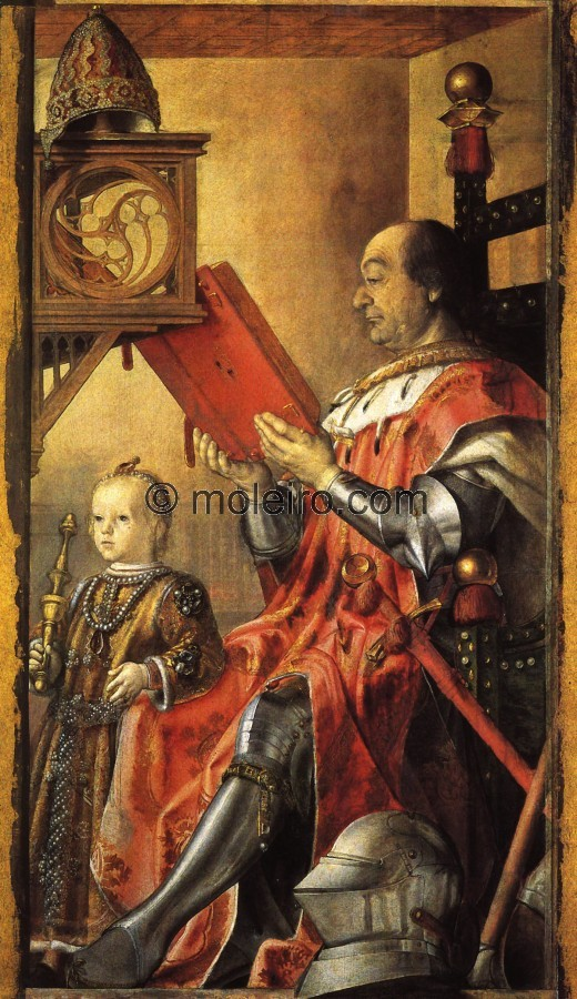 Pedro Berruguete, Federico da Montefeltro and his son Guidobaldo, Urbino, National Marcas Gallery., El Arte en el Renacimiento