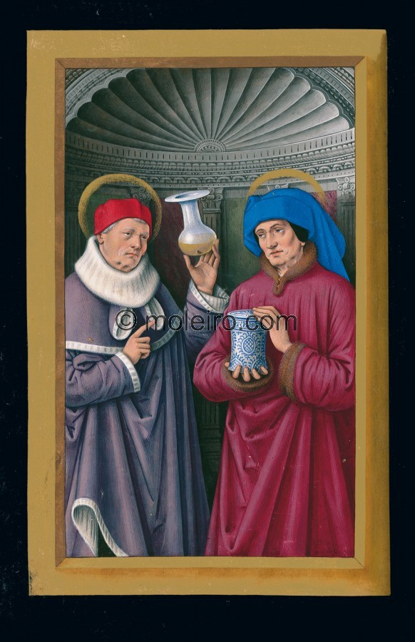 f. 173v, Die heiligen Cosmas und Damian, Die Grandes Heures der Anna von der Bretagne