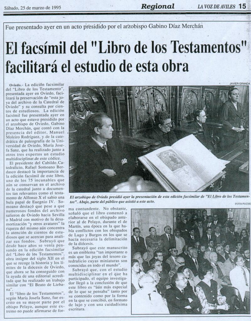 El facsmil del 'Libro de los Testamentos' facilitar el estudio de esta obra