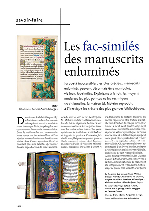 Les fac-similés des manuscrits enluminés