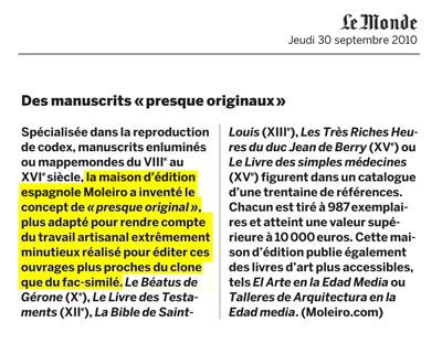Des manuscrits «presque originaux»