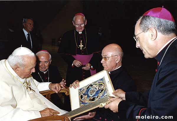 Pope John Paul II with his Bible of St. Louis