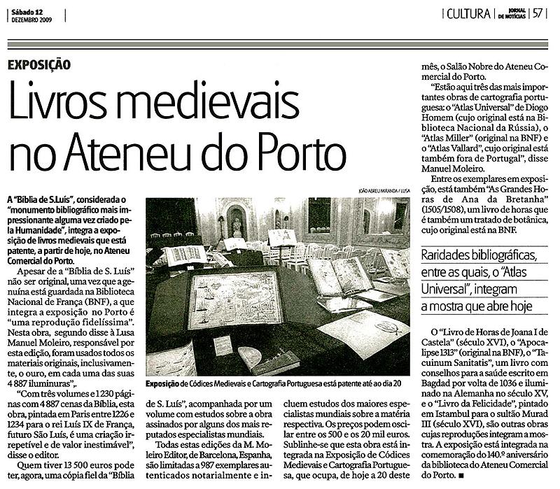 Livros medievais no Ateneu do Porto