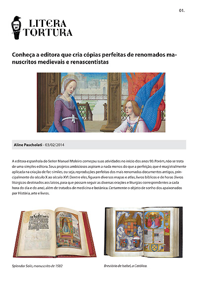 Conheça a editora que cria cópias perfeitas de renomados manuscritos medievais e renas