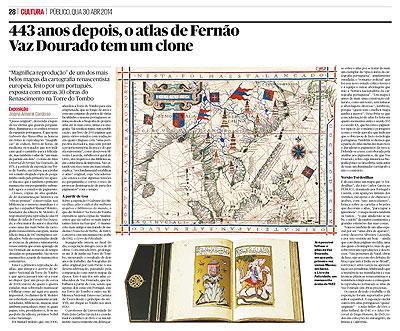 443 anos depois, o atlas de Fernão Vaz Dourado tem um clone