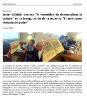 """Javier Celdrán destaca """"la necesidad de democratizar la cultura"""""""
