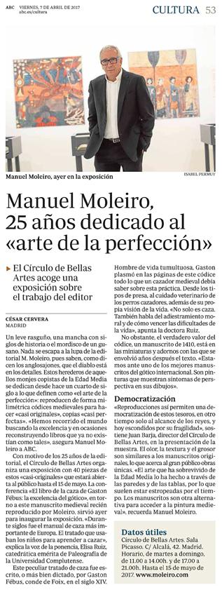 Manuel Moleiro, 25 años dedicado al «arte de la perfección»