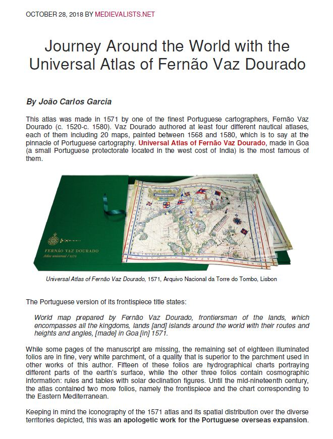 Journey Around the World with the Universal Atlas of Fernão Vaz Dourado