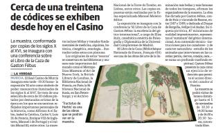 <p>Cerca de una treintena de códices se exhiben desde hoy en el Casino</p>
