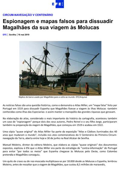 Espionagem e mapas falsos para dissuadir Magalhães da sua viagem às Molucas