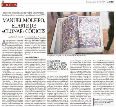 Manuel Moleiro, el arte de «clonar» códices