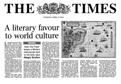 A literary favour to world culture