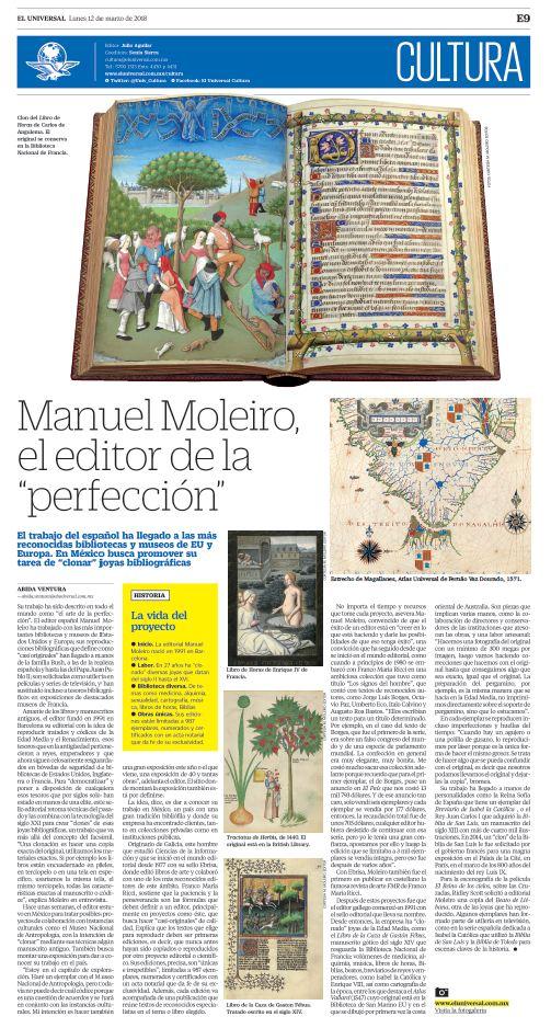 """Manuel Moleiro, el editor de la """"perfección"""""""