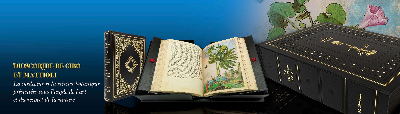 Dioscoride de CIbo et Mattioli - médecine, science botanique, nature et art