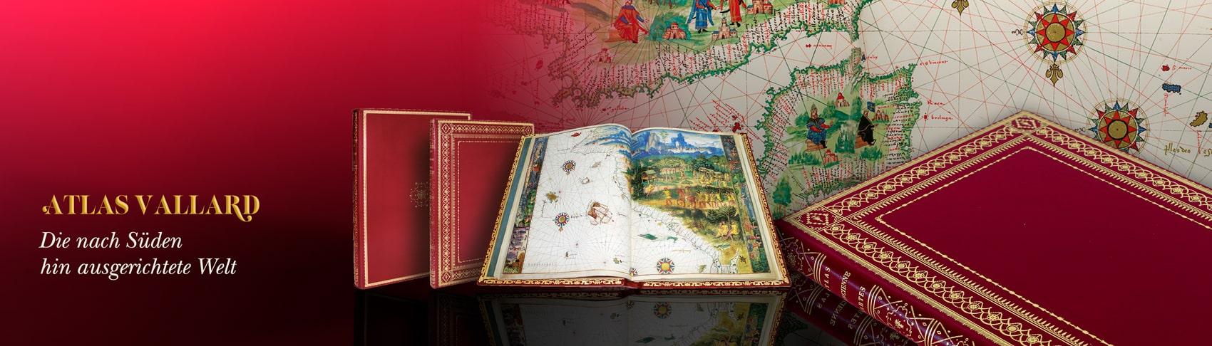 Atlas Vallard. Die nach Süden hin ausgerichtete Welt