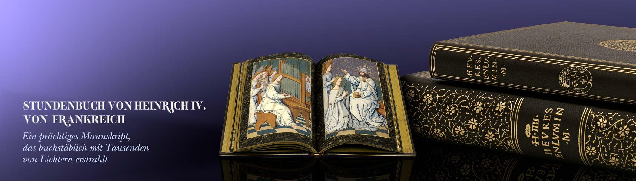 Stundenbuch von Heinrich IV, von Frankreich. Ein prächtiges Manusckript, das buchstäblich mit Tausenden von Lichtern erstrahlt