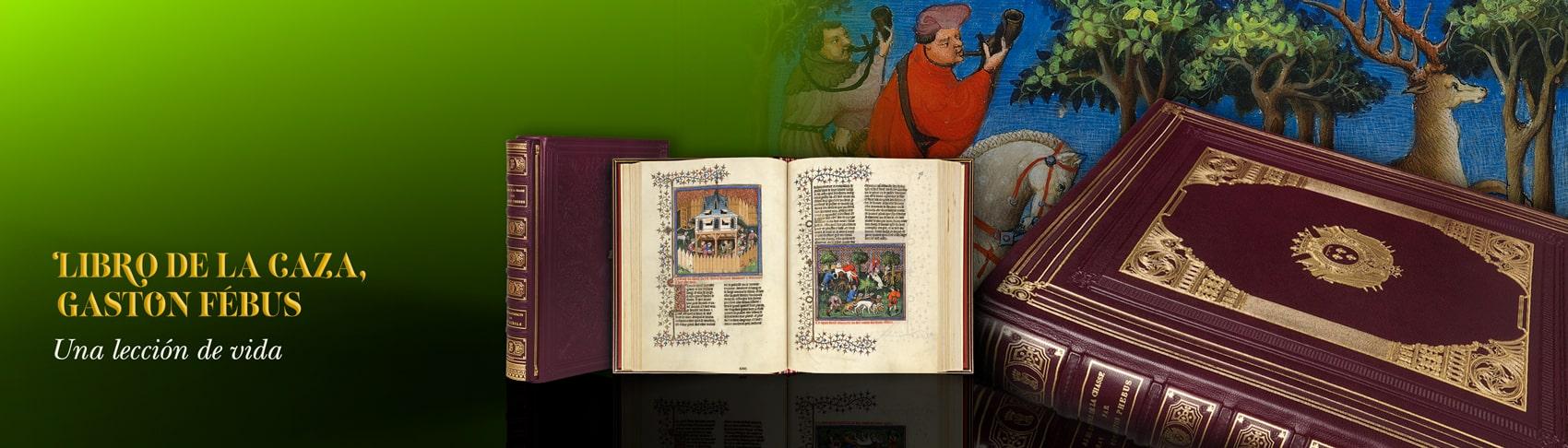 Libro de la caza, Gaston Fébus BnF. Manuscrito iluminado medieval enseña el arte de la caza, cinegética.