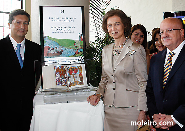 Her Majesty Queen Sofía with the Isabella Breviary