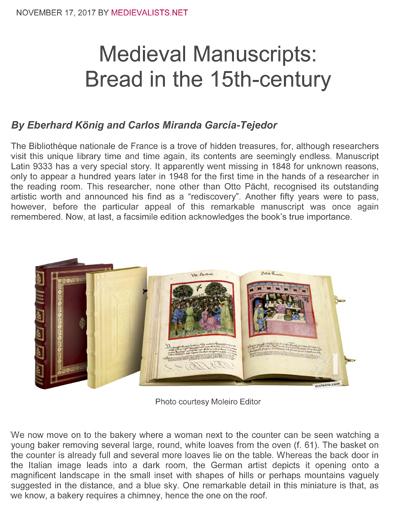 Bread in the 15th-century