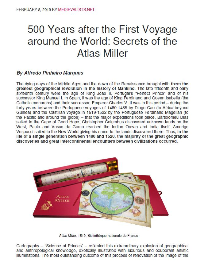 <p>500 Years after the First Voyage around the World:</p>