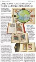 Llega al Real Alcázar de Sevilla el arte de clonar los tesoros bibliográficos