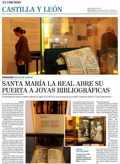 Santa María la Real abre su puerta a joyas bibliográficas