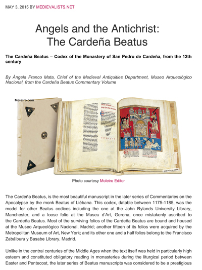 Angels and the Antichrist: The Cardeña Beatus