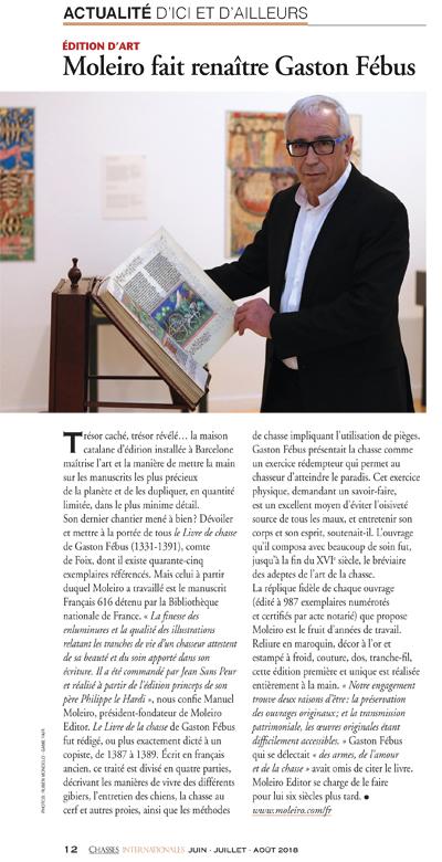 Moleiro fait renaître Gaston Fébus